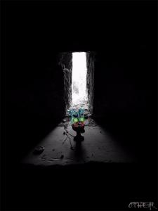 OPHEAR 1 masks 100x70cm scene 5 Forgotten LR