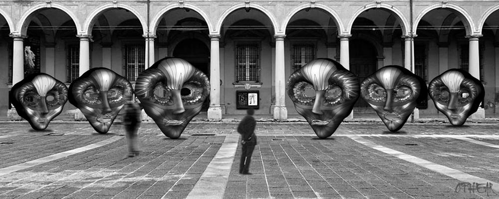 OPHEAR 3 masks 100cmx40cm piazza LR