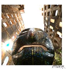 OPHEAR 4 3D masks 100x100cm scene 3 – Downtown Rush