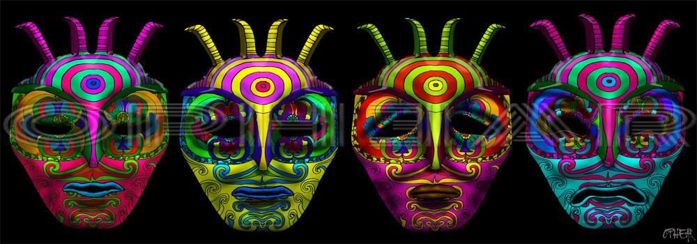 OPHEAR 4  masks 100x35cm LR – The Antennas  WM