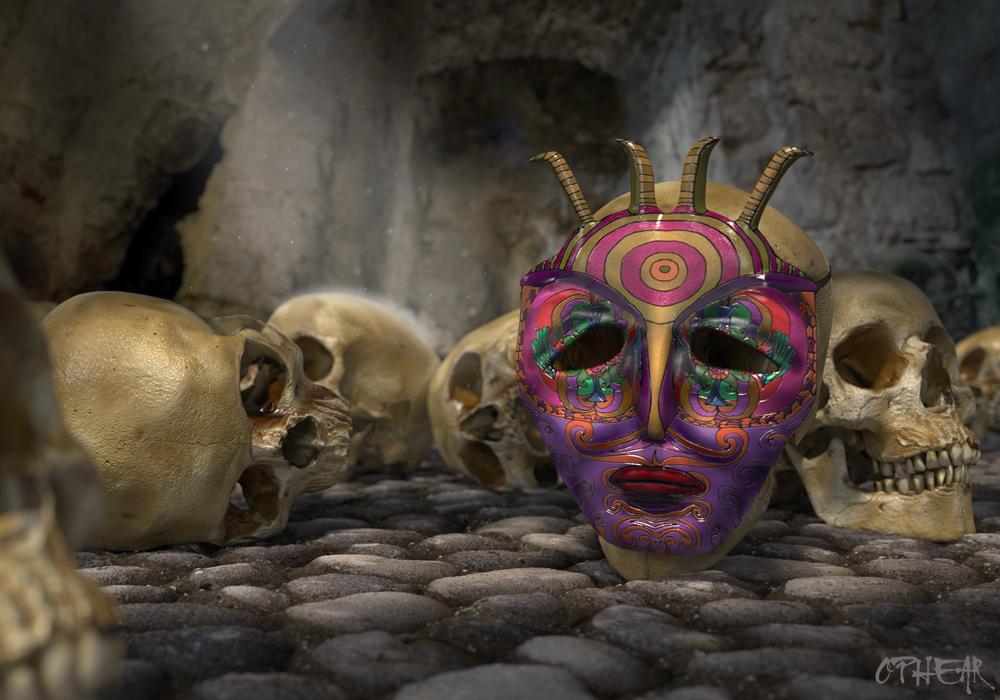 OPHEAR 4 3D masks 100x70cm scene 1 LR – Very Dead