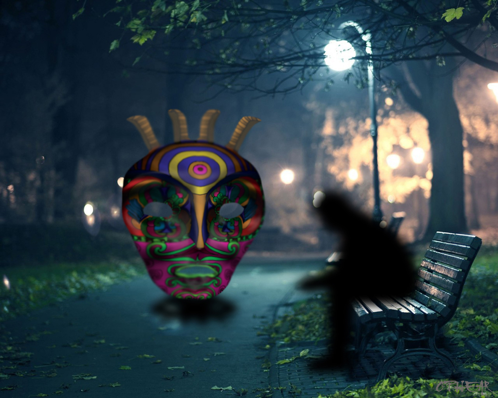 OPHEAR 4 masks 100cmx80cm scene 7 LR – soliloquy