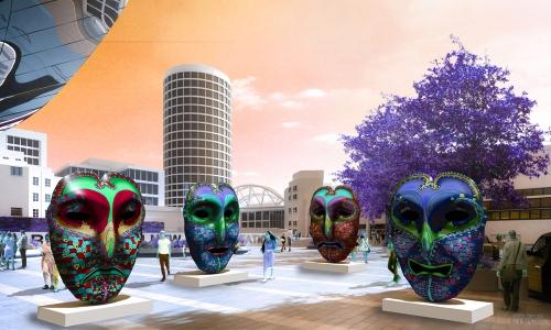 OPHEAR 6 3D masks 100x75cm scene 2 LR