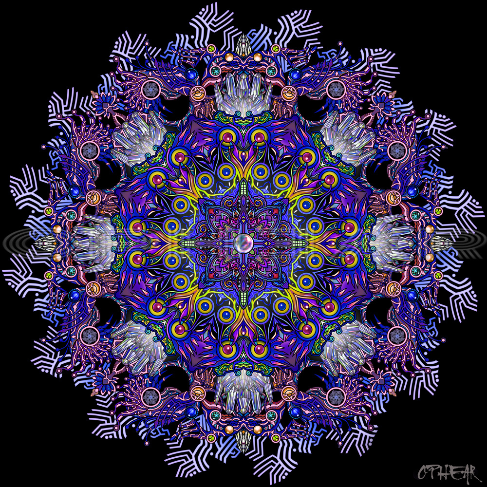 OPHEAR 67 Mandala Future purple 100x100cm LR WM