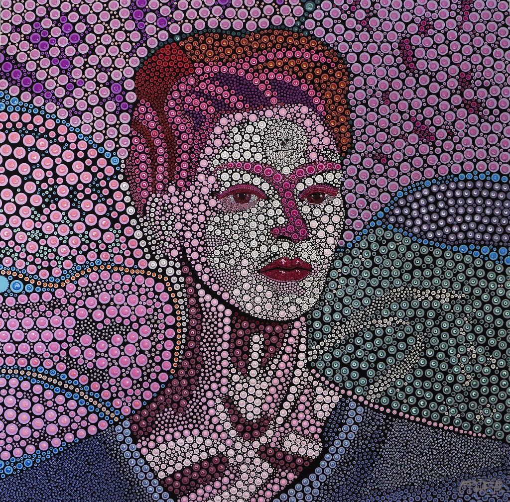OPHEAR-Frida-Khalo-acrylic-pigment-on-canvas-100x100cm-pearl-min