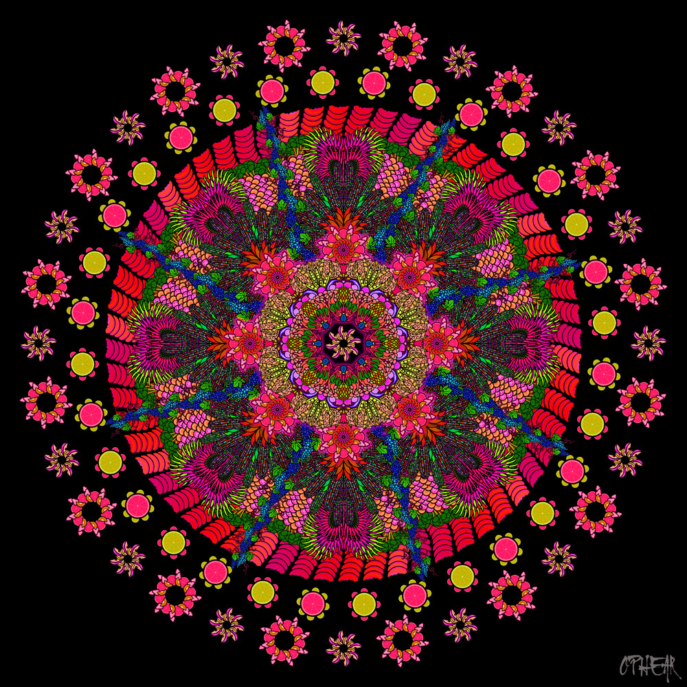 OPHEAR Healthn Mandala Red
