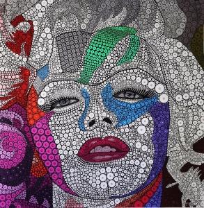 OPHEAR-Marilyn-Monroe-acrylic-pigment-on-canvas-100x100cm-pearl-min