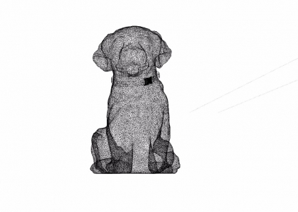 OPHEAR dog sculpture 3 wire-mesh